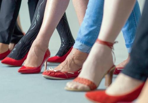 Rote Schuhe SPÖ Frauen